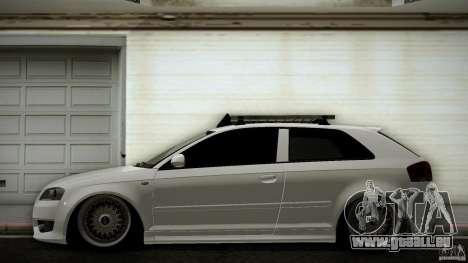 Audi S3 Euro pour GTA San Andreas laissé vue