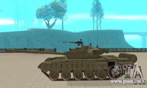 Panzer t-72 b für GTA San Andreas linke Ansicht