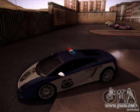 Lamborghini Gallardo LP560-4 Undercover Police pour GTA San Andreas laissé vue
