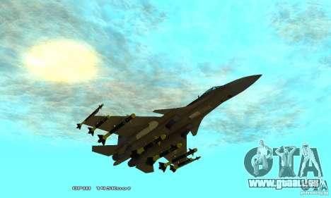 Su-37 Terminator pour GTA San Andreas vue de dessous