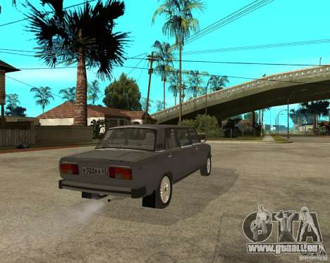 VAZ 2105 Limousine für GTA San Andreas zurück linke Ansicht