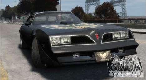 Pontiac Trans Am 1977 pour GTA 4 est une gauche