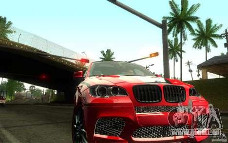 Bmw X6 M Lumma Tuning für GTA San Andreas Rückansicht