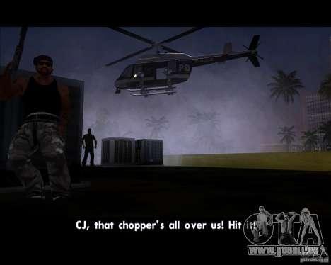 GTA IV Police Helicopter für GTA San Andreas rechten Ansicht