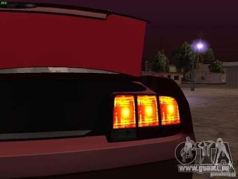 Ford Mustang GT 2005 Tuned für GTA San Andreas Innen