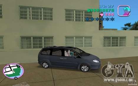 Citroen C8 pour une vue GTA Vice City de la droite