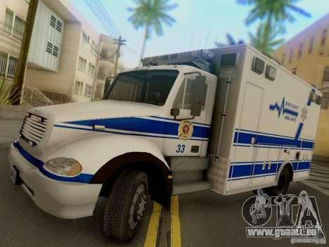 Freightliner Bone County Police Fire Medical für GTA San Andreas zurück linke Ansicht