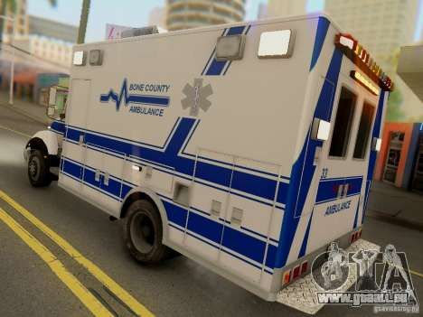 Freightliner Bone County Police Fire Medical für GTA San Andreas rechten Ansicht