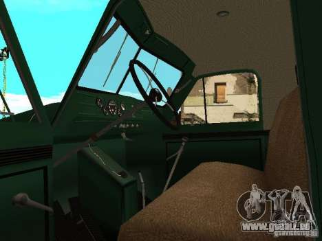 GAZ 51 grue mobile pour GTA San Andreas vue arrière