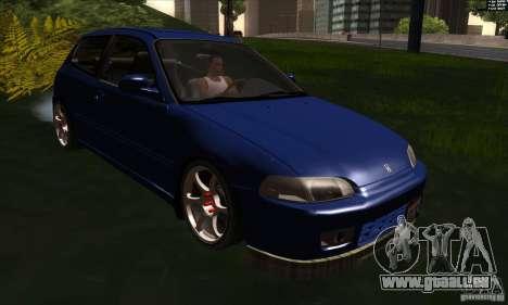 Honda Civic EG5 pour GTA San Andreas vue arrière