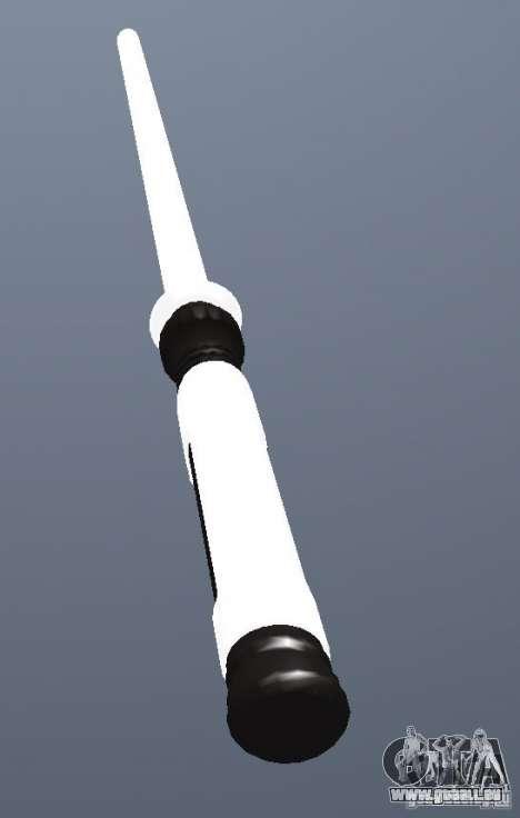 Lightsabre v2 White pour GTA San Andreas deuxième écran