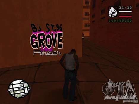 Nouveaux gangs de graffiti pour GTA San Andreas septième écran
