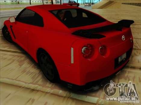 Nissan GTR Egoist 2011 pour GTA San Andreas vue arrière