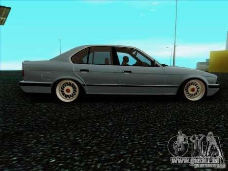 BMW 5 series E34 pour GTA San Andreas laissé vue