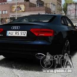 Audi RS5 2012 pour GTA 4 Vue arrière de la gauche