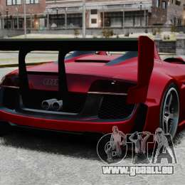 Audi R8 Spider Body Kit Final für GTA 4 hinten links Ansicht