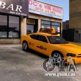 Dodge Charger NYC Taxi V.1.8 pour GTA 4 est une vue de l'intérieur