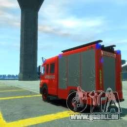 Mercedes-Benz Atego Fire Departament für GTA 4 hinten links Ansicht