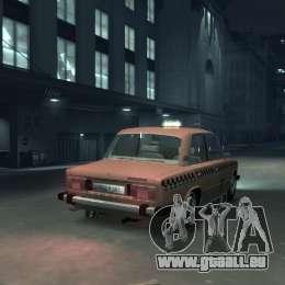 VAZ 2106 Taxi pour GTA 4 Vue arrière