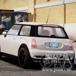 Mini Cooper S 2003 v1.2 für GTA 4 hinten links Ansicht