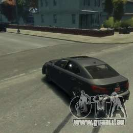 Lexus IS F für GTA 4 obere Ansicht