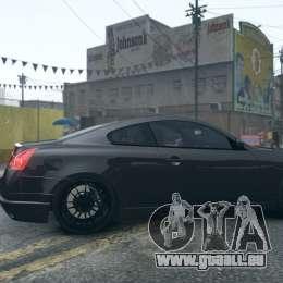 Infiniti G37 Coupe Carbon Edition v1.0 pour GTA 4 Vue arrière