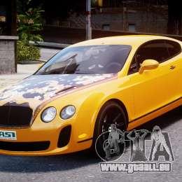 Bentley Continental SS 2010 ASI Gold [EPM] für GTA 4 Rückansicht