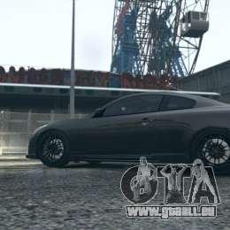 Infiniti G37 Coupe Carbon Edition v1.0 pour GTA 4 Vue arrière de la gauche
