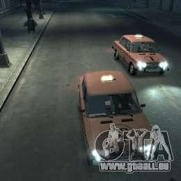 VAZ 2106 Taxi pour GTA 4 vue de dessus