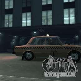 VAZ 2106 Taxi pour GTA 4 est une gauche
