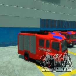 Mercedes-Benz Atego Fire Departament für GTA 4 Seitenansicht