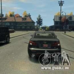 Lexus IS F für GTA 4 rechte Ansicht