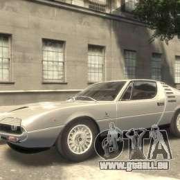 Alfa Romeo Montreal 1970 pour GTA 4 Vue arrière