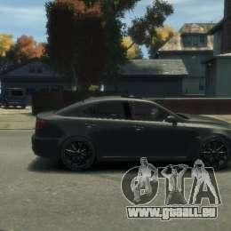 Lexus IS F für GTA 4 Rückansicht