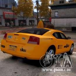 Dodge Charger NYC Taxi V.1.8 pour GTA 4 Vue arrière