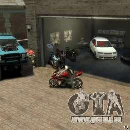 Yamaha R1 RN12 pour GTA 4 vue de dessus