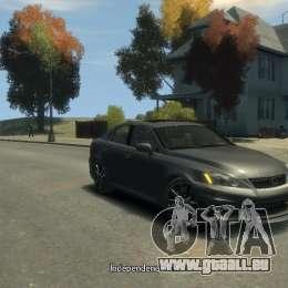 Lexus IS F für GTA 4 linke Ansicht