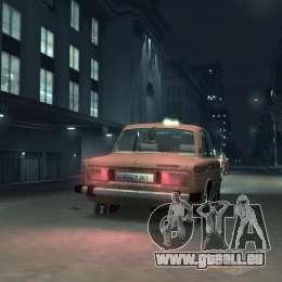 VAZ 2106 Taxi pour GTA 4 est un droit
