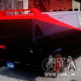 GMC Vandura A-Team Van 1983 pour GTA 4 vue de dessus