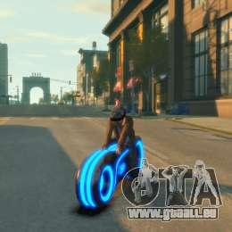Moto du trône (néon bleu) pour GTA 4 Vue arrière de la gauche