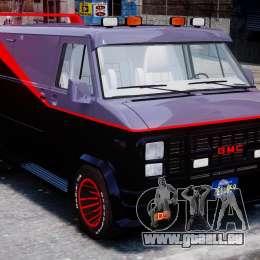 GMC Vandura A-Team Van 1983 pour GTA 4 est une vue de l'intérieur