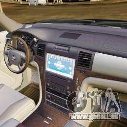 Cadillac Escalade 2007 v3.0 pour GTA 4 est une vue de l'intérieur