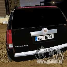 Cadillac Escalade 2007 v3.0 pour GTA 4 Vue arrière