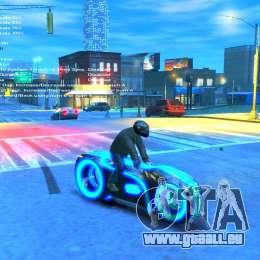 Moto du trône (néon bleu) pour GTA 4 est un droit