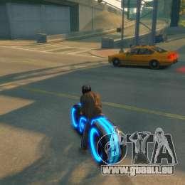 Moto du trône (néon bleu) pour GTA 4