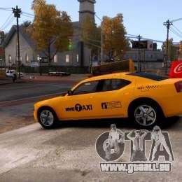Dodge Charger NYC Taxi V.1.8 pour GTA 4 est un côté