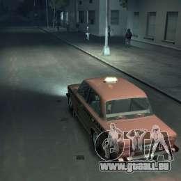VAZ 2106 Taxi pour GTA 4 Vue arrière de la gauche