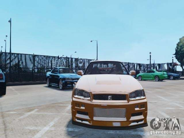 nissan skyline gt r r34 fast and furious 4 f r gta 4. Black Bedroom Furniture Sets. Home Design Ideas