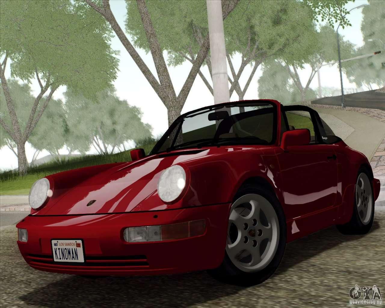 porsche 911 carrera 4 targa 964 1989 f r gta san andreas. Black Bedroom Furniture Sets. Home Design Ideas