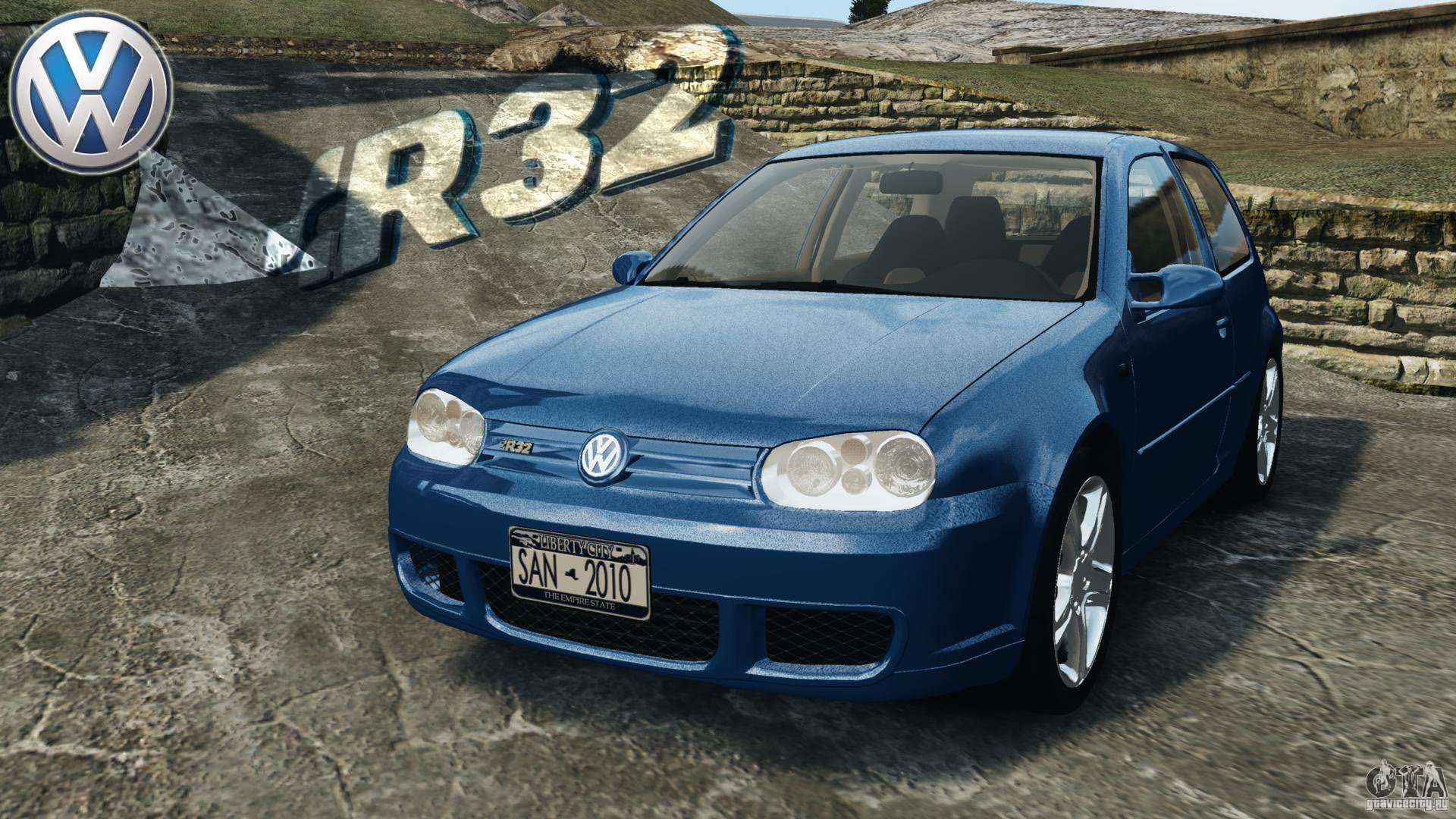 volkswagen golf 4 r32 2001 v1 0 pour gta 4. Black Bedroom Furniture Sets. Home Design Ideas